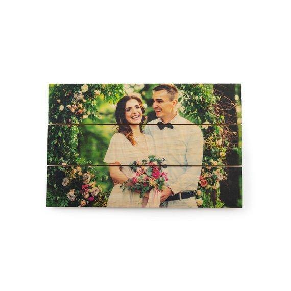 5th Anniversary Gift Wedding Picture on Wood - BOSTON CREATIVE COMPANY