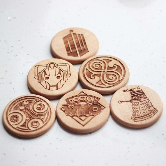 Doctor Who coasters Personalized coaster - set of 6 - BOSTON CREATIVE COMPANY