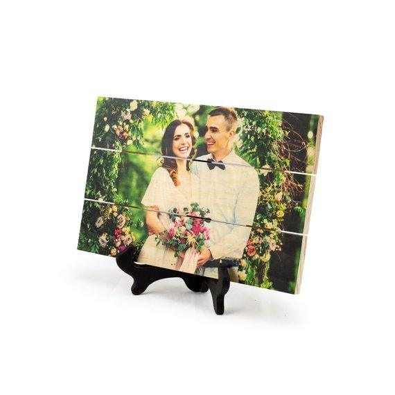 Wood Photo Print- 5th Anniversary Gift, Anniversary Photo on Wood, Wedding Picture on Wood, Wood Anniversary Gift, 5 Year Anniversary, Custom Anniversary Gift