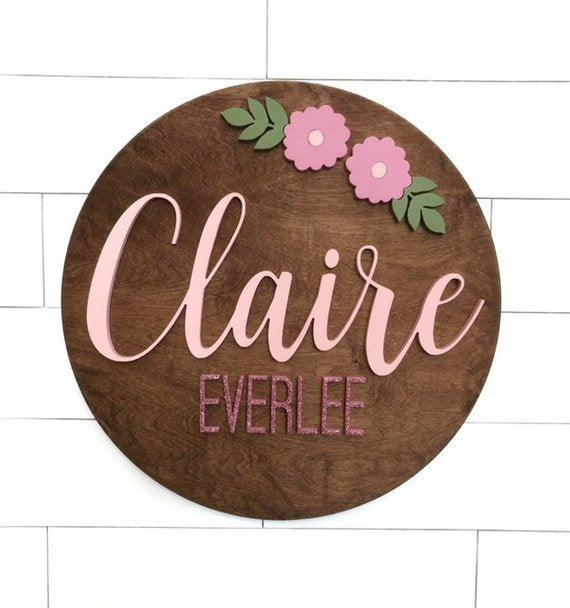 "Custom Name Sign | 24"" Round Sign 