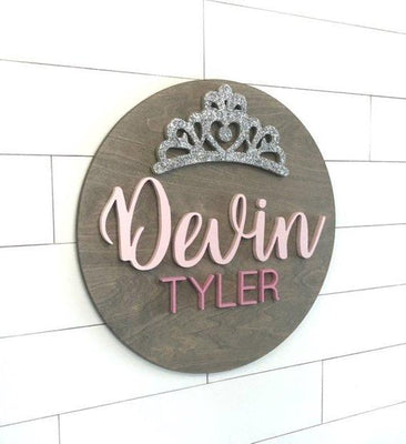 Princess Custom Baby Name Sign