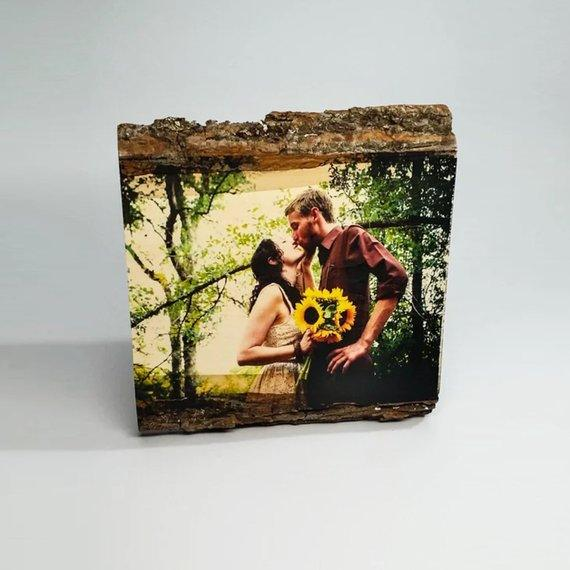 Personalized Couple Housewarming Gift Wood Picture Frame - BOSTON CREATIVE COMPANY