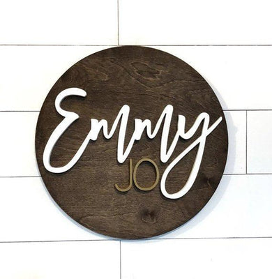 Personalized Nursery sign wooden letters signs