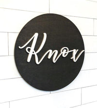"24"" Wooden Nursery Name Sign 