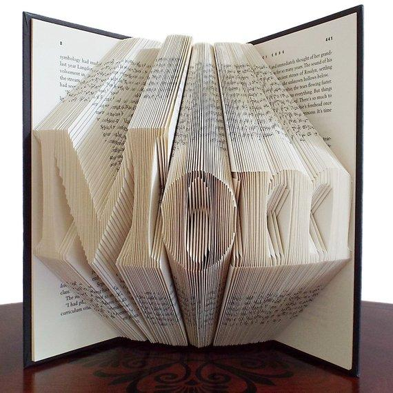 Gift for Mom, Mothers Day Gift, New Mom Gift, Folded Book Art, Unique Gift, Baby Shower Gift, Birthday Gift for Mom - BOSTON CREATIVE COMPANY