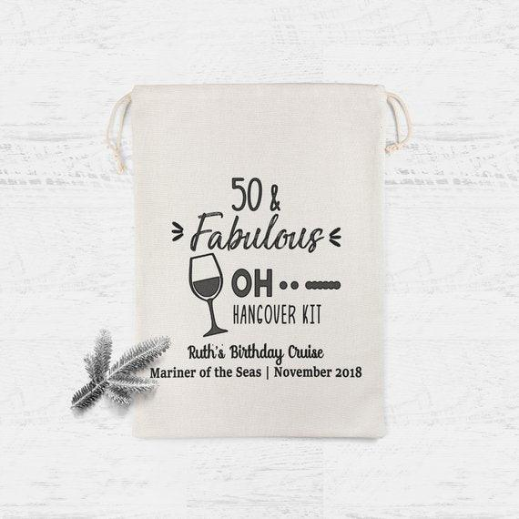 Oh shit hangover kit 50th Birthday Favor Bags