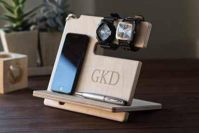 Docking Station Nightstand Valet Wooden Phone Stand - BOSTON CREATIVE COMPANY