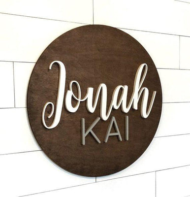 Customized Baby Name Sign Wood Nursery Decorations