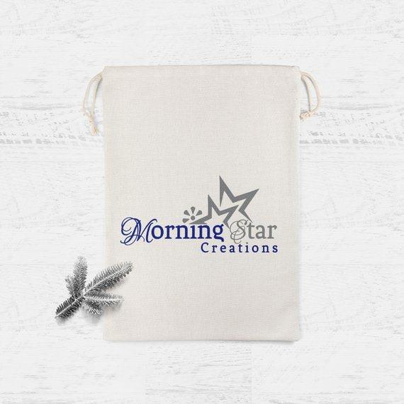 Custom Logo Merchandise Bag - Business Event Customized Favor Bags for Candy Buffet Birthday Personalized muslin cotton bag
