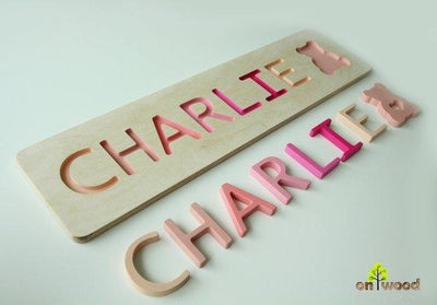 Baby Name Puzzle. Personalized Gift for Girl. - BOSTON CREATIVE COMPANY