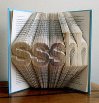 Folded Book Art - Unique Gift For Book Lover - Home Decor - Book Sculpture - Library -  Best Selling - Your Choice of Words - - BOSTON CREATIVE COMPANY