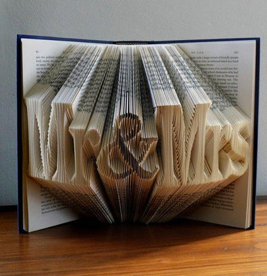 Mr & Mrs Folded Book Art - BOSTON CREATIVE COMPANY