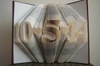 Folded Book Art -10th Anniversary Gift | Personalized Date and Time | Handmade Gift - BOSTON CREATIVE COMPANY