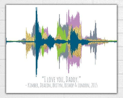 Custom Sound Wave Art Print Voice Wave Choose Your Colors - BOSTON CREATIVE COMPANY