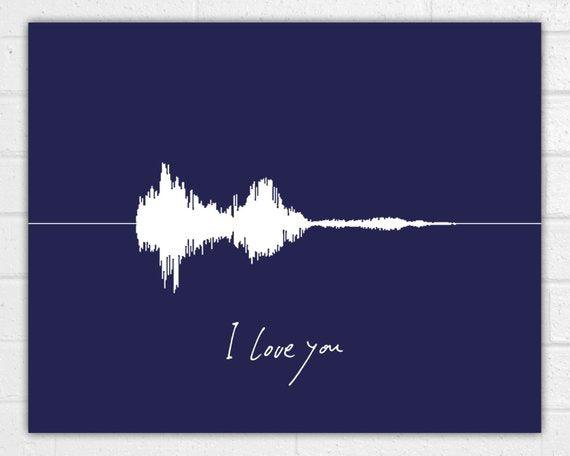 Custom Sound Wave Art Print Voice Wave Personalized Valentine's Day - BOSTON CREATIVE COMPANY