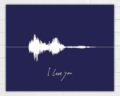 Custom Sound Wave Art Print Voice Wave Personalized Valentines Day - BOSTON CREATIVE COMPANY
