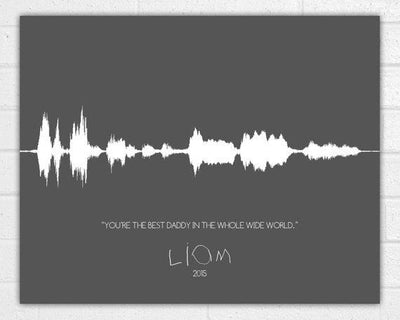 Custom Sound Wave Art Print - Voice Wave - Personalized Valentines Day - Handwriting Gift - Birthday Mothers Day Fathers Day Anniversary - BOSTON CREATIVE COMPANY
