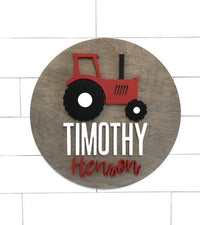 "Custom Name | 24"" Tractor Sign 