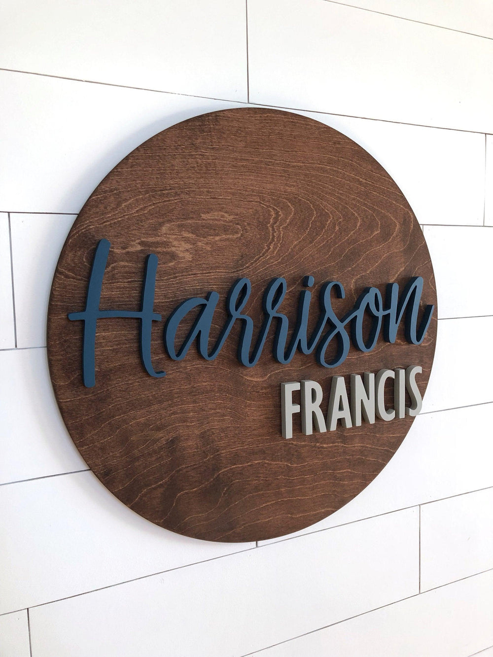 Wooden Nursery Name Sign Customized Letters