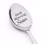 Good morning sister spoon-sister gift-sister in law gift-sister birthday gift - BOSTON CREATIVE COMPANY
