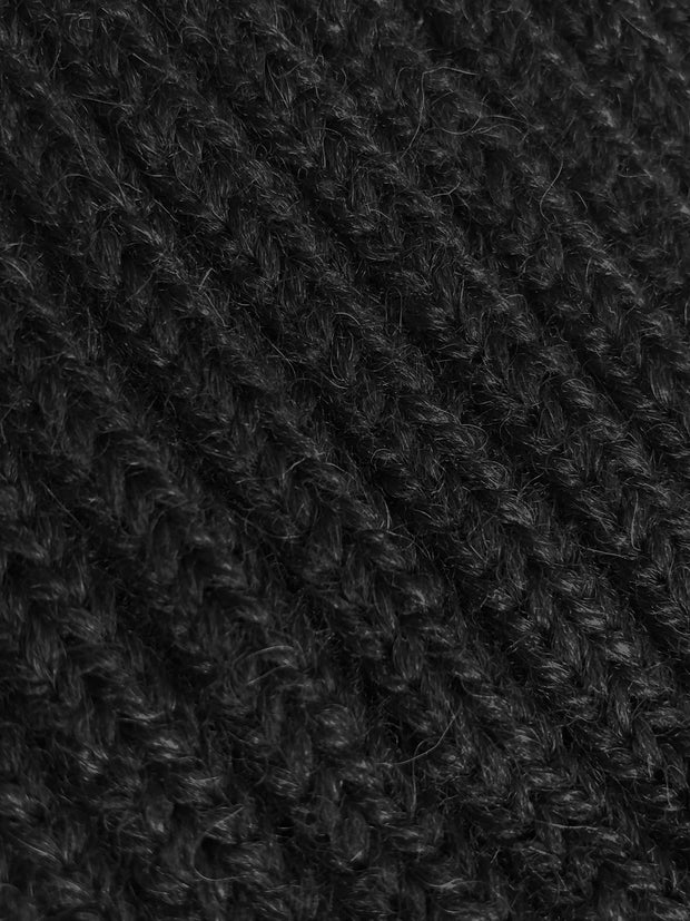 Wool and Alpaca Knit Beanie Close Up