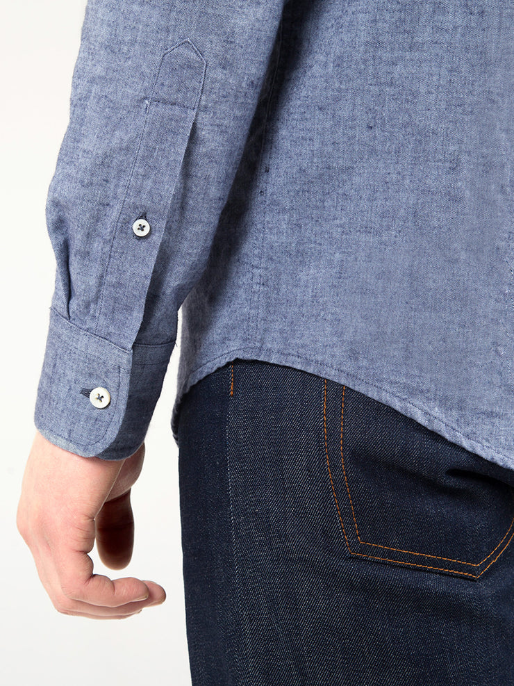 Chambray Shirt Cuff Detail