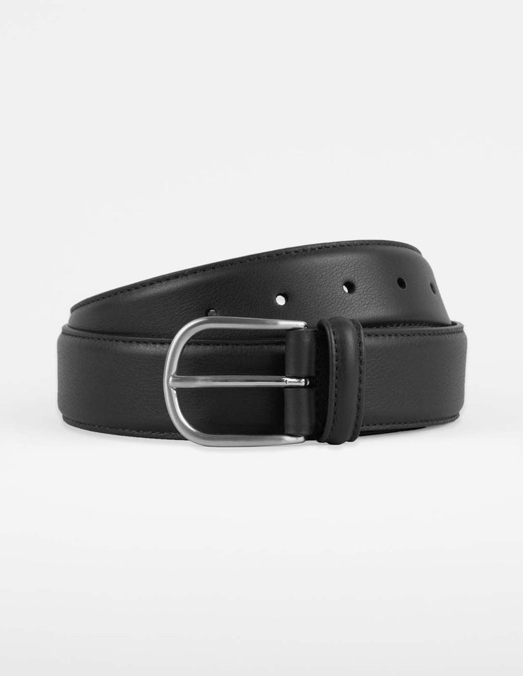 Andersons Black Leather Belt