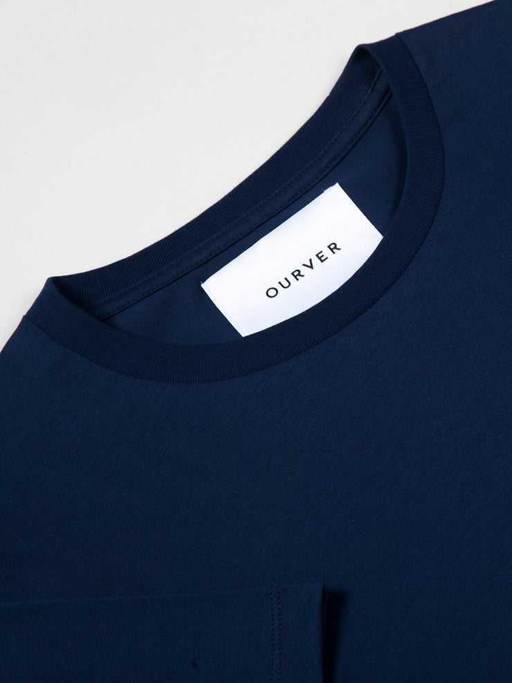 Mens Crew Neck Navy T-shirt