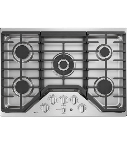 "30"" BUILT-IN DEEP-RECESSED EDGE-TO-EDGE GAS COOKTOP GE CAFÉ - STAINLESS STEEL CGP9530SLSS"