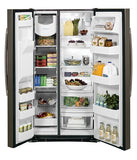 GE 25.4 CU. FT. SIDE-BY-SIDE REFRIGERATOR WITH DISPENSER SLATE GSS25GMHES