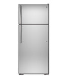 Energy Star 17.5 Cu.Ft. Top-Freezer, Frost-Free Refrigerator GE - Stainless Steel