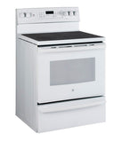 "30"" FREE STANDING ELECTRIC SELF CLEANING CONVECTION RANGE GE - WHITE JCB860DKWW"