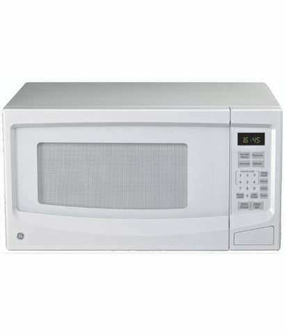 1.1CUFT COUNTERTOP MICROWAVE OVEN GE - WHITE ON WHITE JES1145WTC