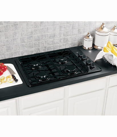 "30"" BUILT-IN DEEP-RECESSED GAS COOKTOP GE - BLACK JGP329DETBB"