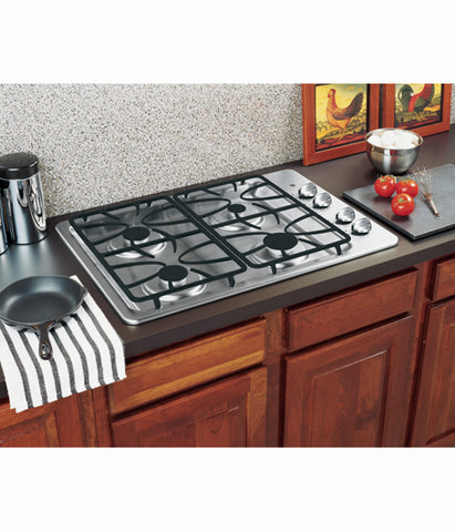"30"" BUILT-IN DEEP-RECESSED GAS COOKTOP GE - STAINLESS STEEL JGP329SETSS"