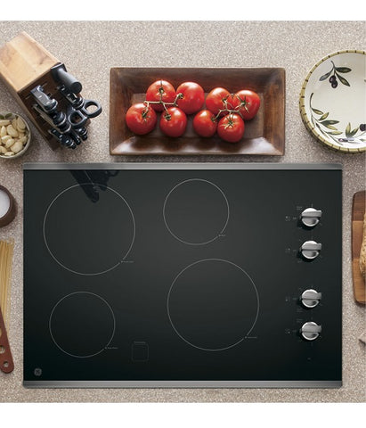 "30"" BUILT-IN CLEANDESIGN ELECTRIC COOKTOP GE - STAINLESS STEEL JP3030SJSS"