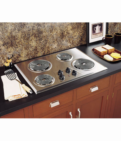 "30"" BUILT IN ELECTRIC COOKTOP GE - STAINLESS STEEL JP328SKSS"
