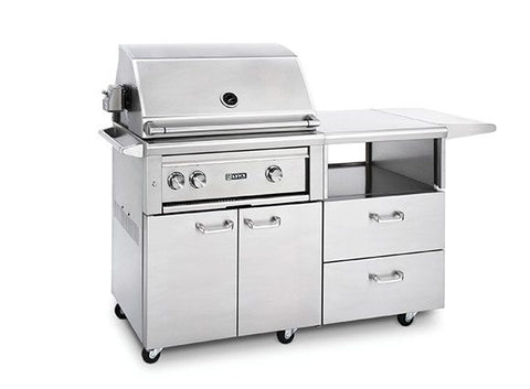 "Lynx 30"" Grill with Trident™ Burner and Rotisserie on Mobile Kitchen Cart (L30PSR-M)"