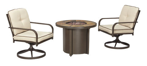 Ashley Outdoor Round Firepit Table
