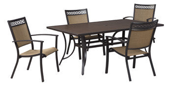 Ashley Outdoor Rectangular Dining Table Only