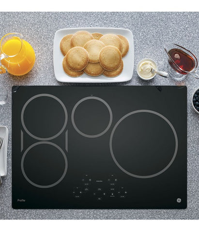 "30"" GE PROFILE ELECTRIC COOKTOP WITH INDUCTION ELEMENTS GE PROFILE - BLACK ON BLACK PHP9030DJBB"