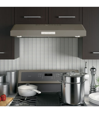 "30"" 4 SPEED UNDER THE CABINET VENT HOOD GE PROFILE - SLATE : PVX7300EJESC"