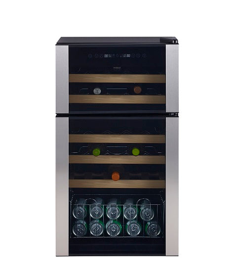 GE 29 BOTTLE WINE CHILLER INTERIOR LIGHTING WOOD SHELVES