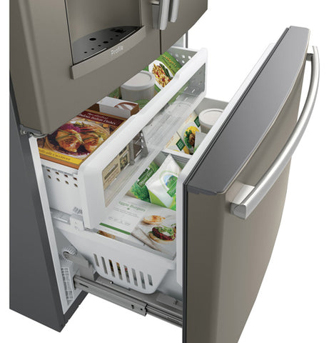 22.1 CU.FT. SLATE BOTTOM-MOUNT, COUNTER DEPTH FRENCH DOOR REFRIGERATOR W/KEURIG® K-CUP® BREWING SYSTEM