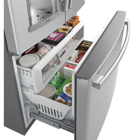 22.1 CU.FT. STAINLESS STEEL BOTTOM-MOUNT, COUNTER DEPTH FRENCH DOOR REFRIGERATOR W/KEURIG® K-CUP® BREWING SYSTEM