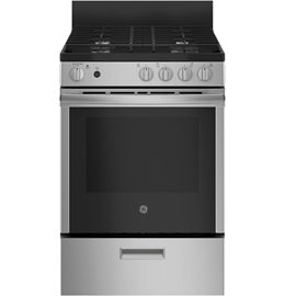 "24"" 2.9 Cu. Ft Free Standing Gas Range With Steam Clean JCGAS640RMSS"