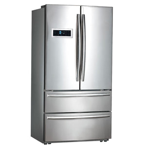 Moffat Stainless Steel 20.8 Cu.Ft. Counter Depth French-Door Refrigerator with Factory Installed Icemaker