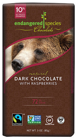 Endangered Species Chocolate | Dark Chocolate with Raspberries
