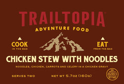 Trailtopia Chicken Stew with Noodles