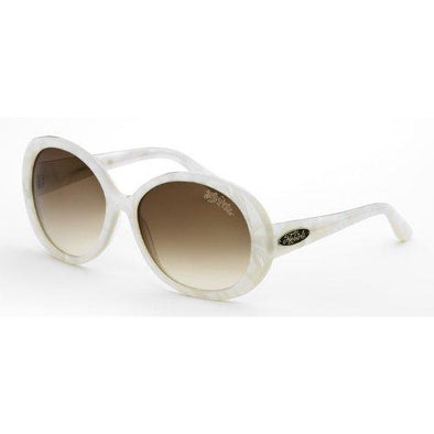Black Flys SHINY FLY Womens Sunglasses - Pearl White